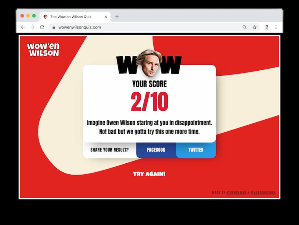 Wowen Wilson Results