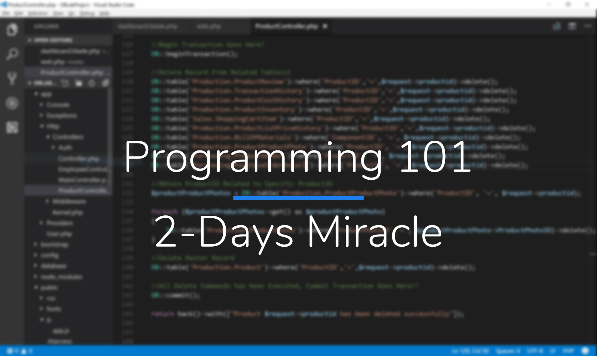 Programming 101 - 2-Days Miracle