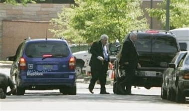 Dennis Hastert walks the long walk