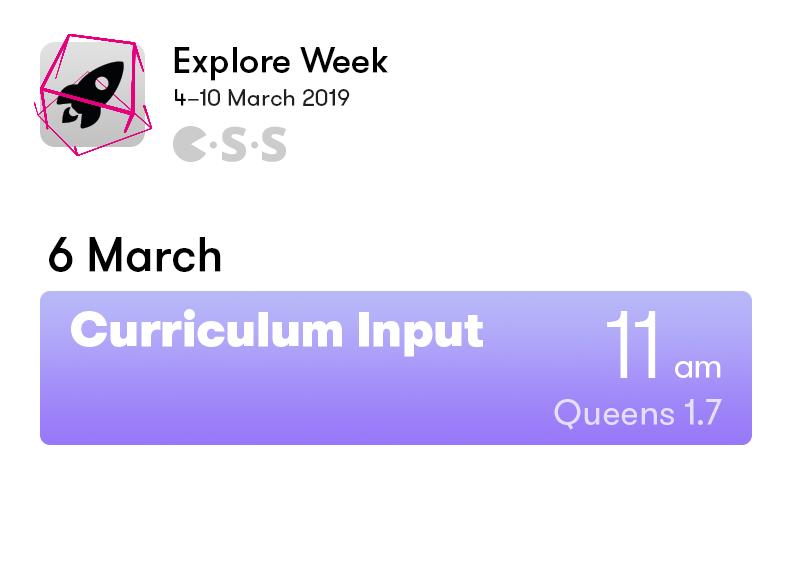 Curriculum Input Forum