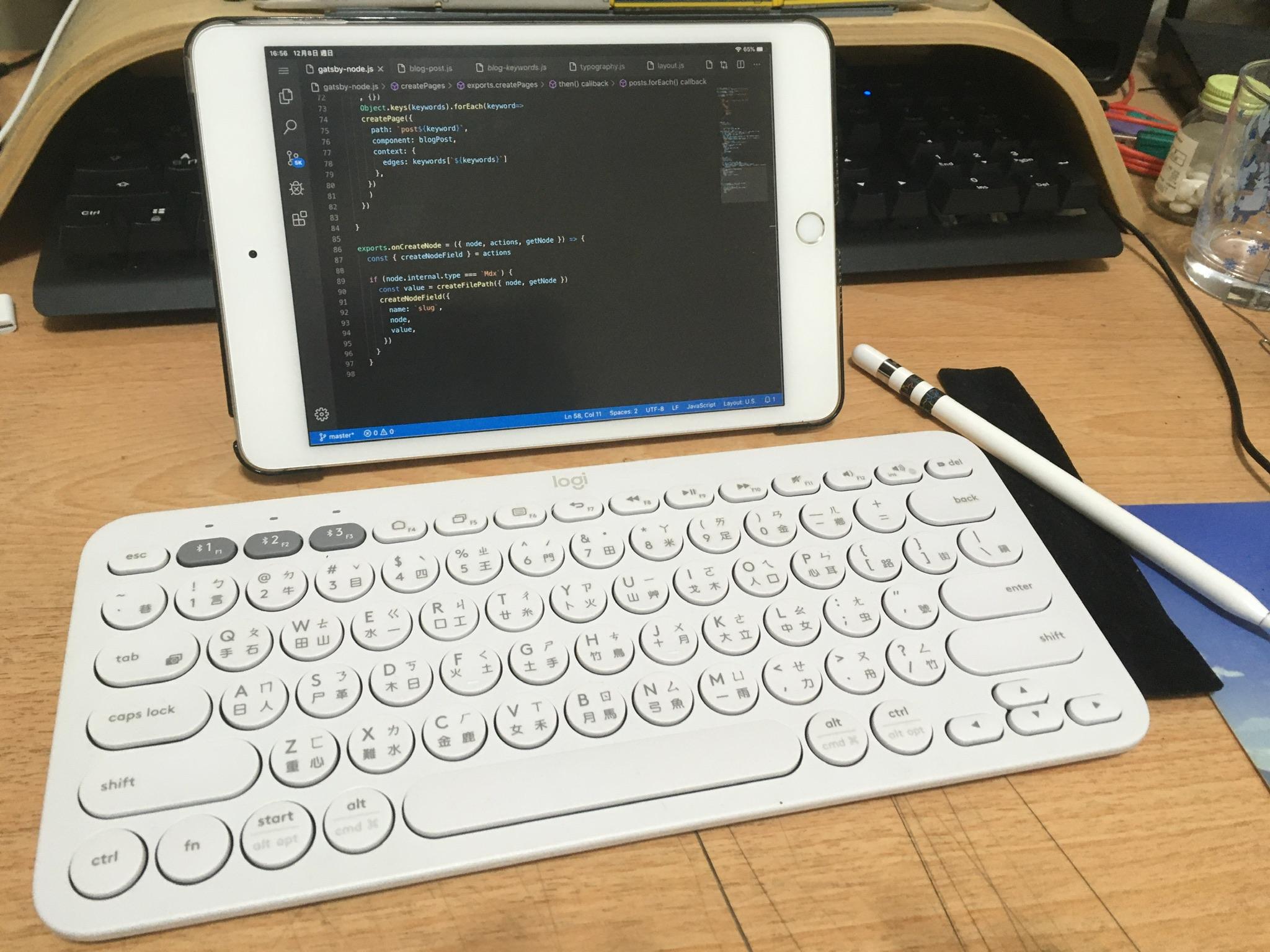 主要開發環境:code-server 與 iPad Mini