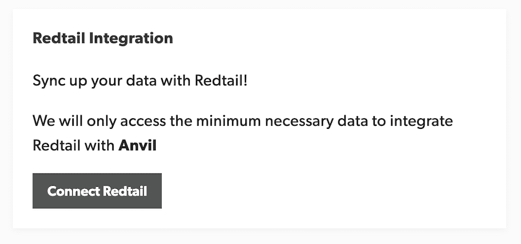 Redtail Connect Modal