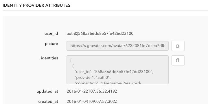 database user details