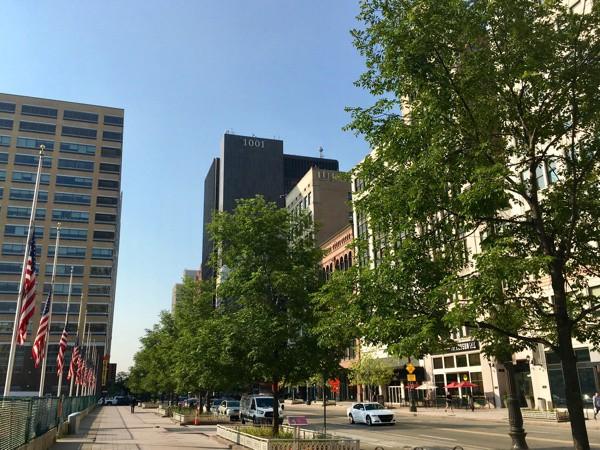 Woodward Avenue in Downtown Detroit