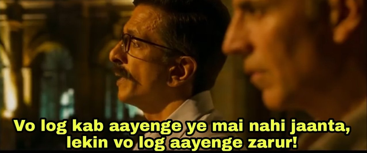 Javed Jaffrey in Sooryavanshi trailer. Vo Log Kab Aayenge Ye Mai Nahi jaanta Lekin Vo Log Aayenge Zarur