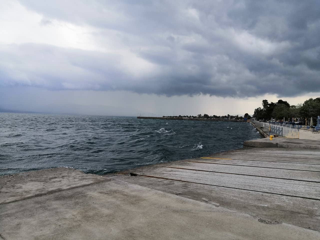 Cloudy view of a seaharbor
