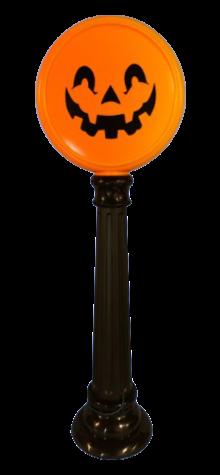 Pumpkin Lamp Post photo
