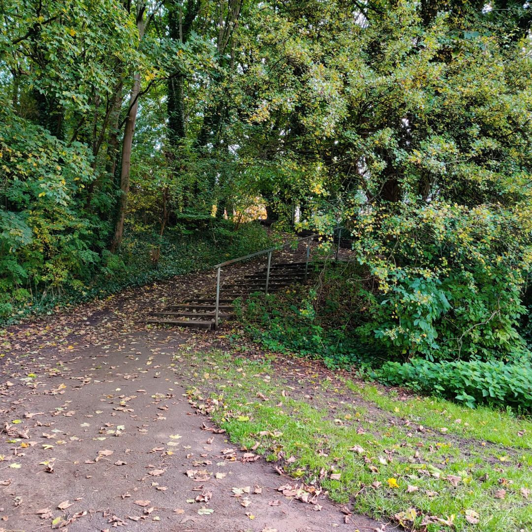 Burley Village Green stairs out