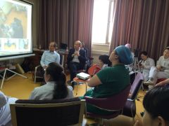 TFL in China: debriefing with video after a training session