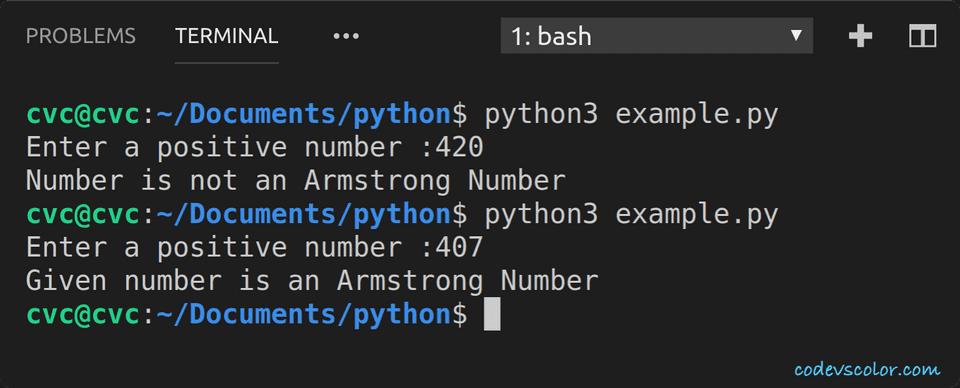 python check armstrong