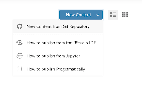 Publish Content from Git to RStudio Connect