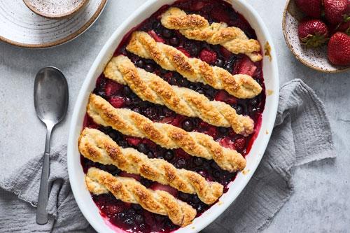 Mixed Berry Cobbler Recipe