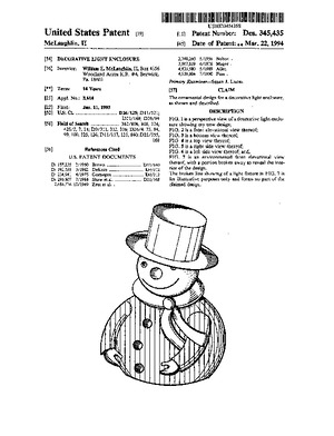 Holiday Hues Decorative Light Enclosure Patent #D345435.pdf preview