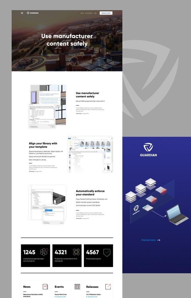 Guardian Web design