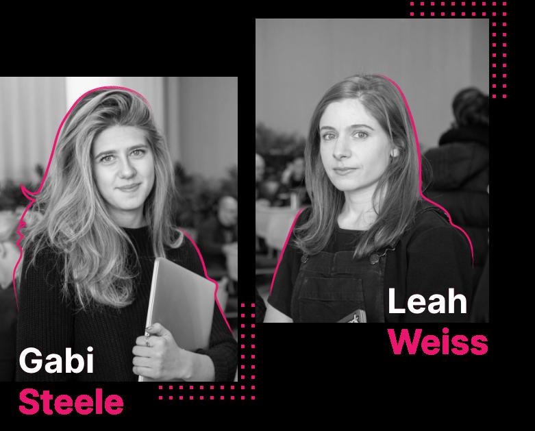 Headshots of Gabi Steele and Leah Weiss
