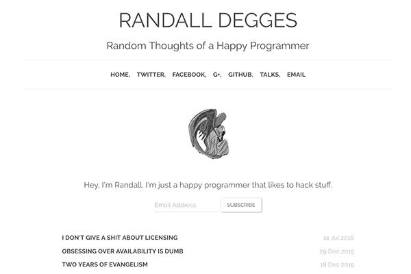 The personal website of Randall Degges.