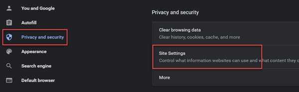 Googler Chrome Site Settings