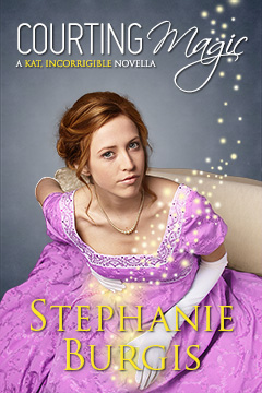 Cover for Courting Magic, by Stephanie Burgis.
