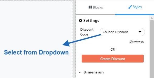 Choose discount