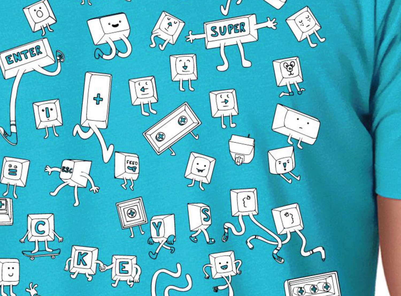 Summer meetup t-shirt design featuring Keyple