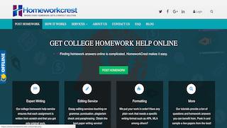 homeworkcrest.com main page