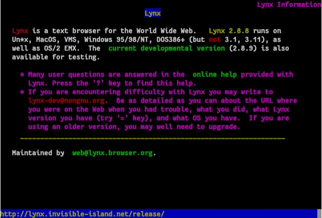 Lynx&#58 The Text Browser