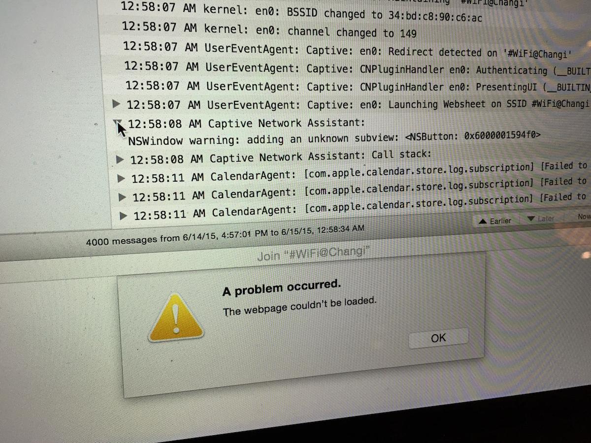 Singapore wifi problems