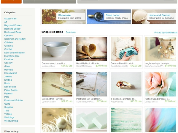 My Ginger #1 was on the front page of Etsy.com
