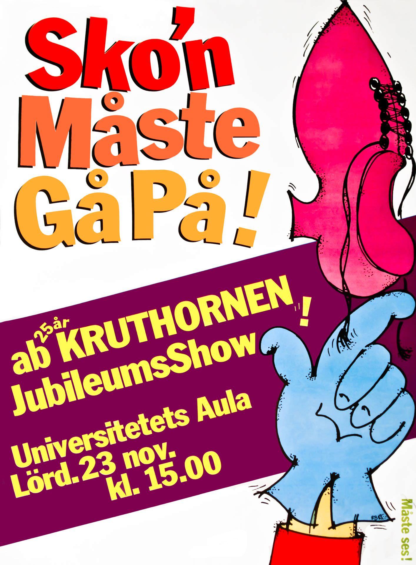 Affisch Kruthornen 25 år