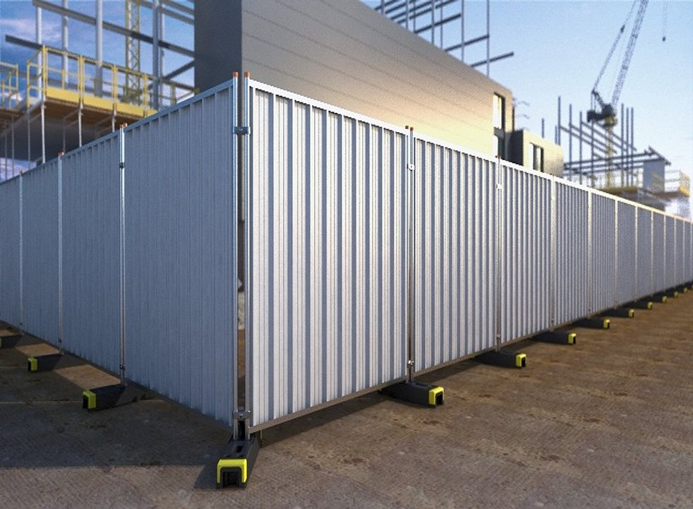Temporary Steel Hoarding