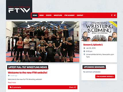 Full Tilt Wrestling website screen-shot