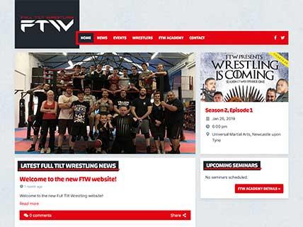 Full Tilt Wrestling website screen-shot