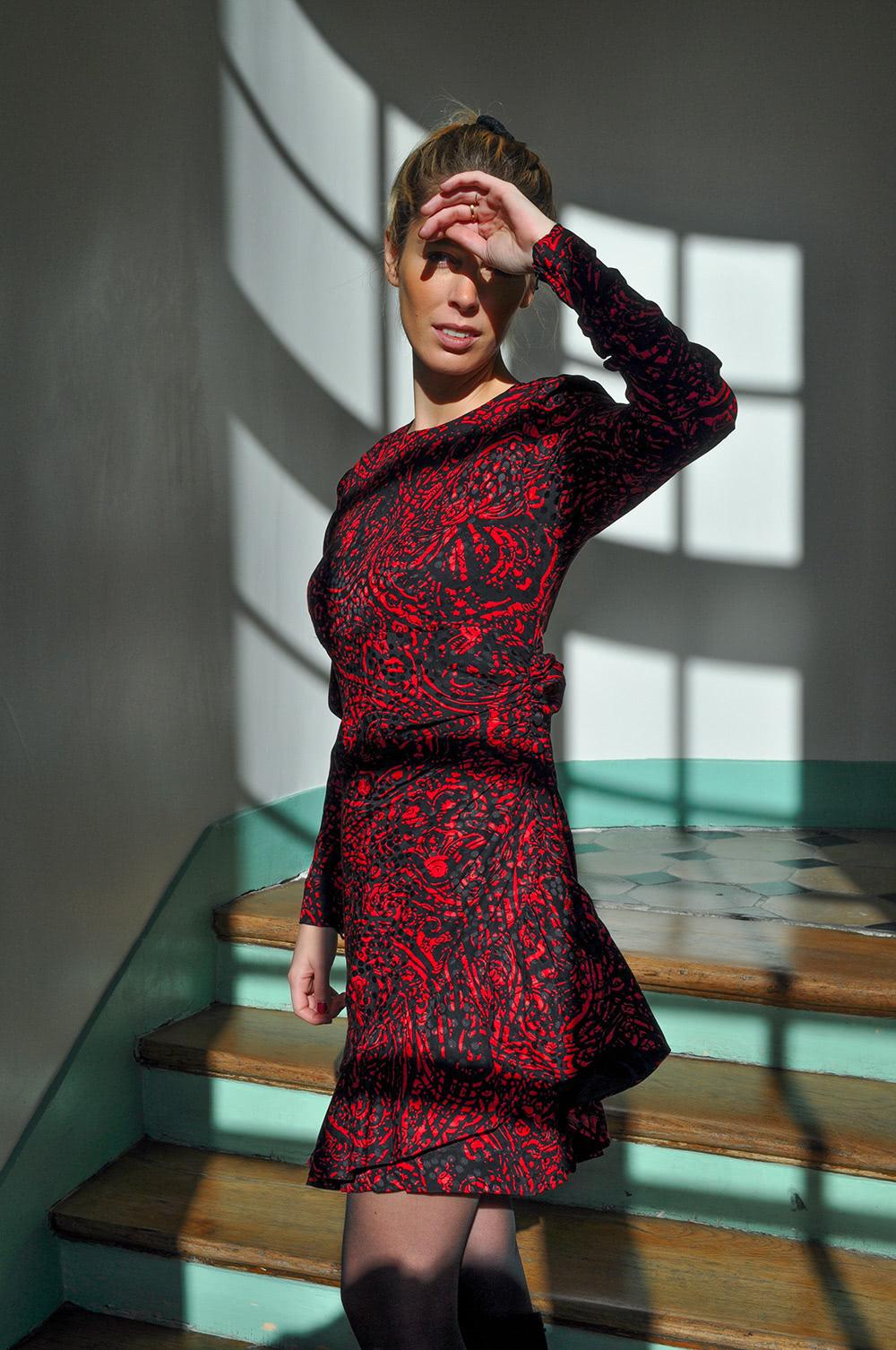 Retouche robe rouge Nantes