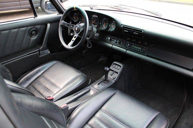 Porsche 911 964 Carrera 2 Historie bekend, Airco, Schuifdak, Leder interieur, Achterruitenwisser afbeelding 12