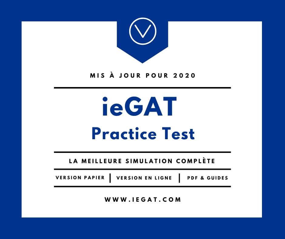 Simulation ieGAT Practice Test en français