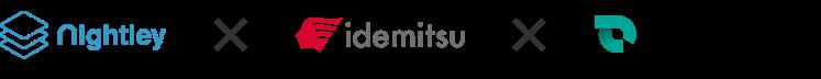 nightley × idemitsu × SmartDrive ロゴ