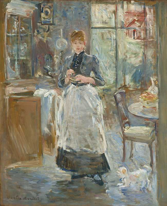 'The Dining Room' painted by Berthe Morisot in c. 1875, National Gallery of Art