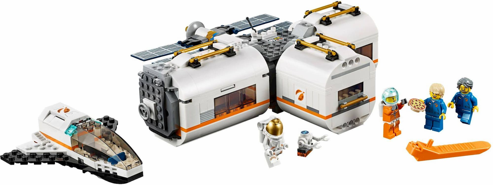 A Lego lunar space station
