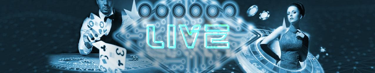 Bitcoin Live Casino Spiele Banner