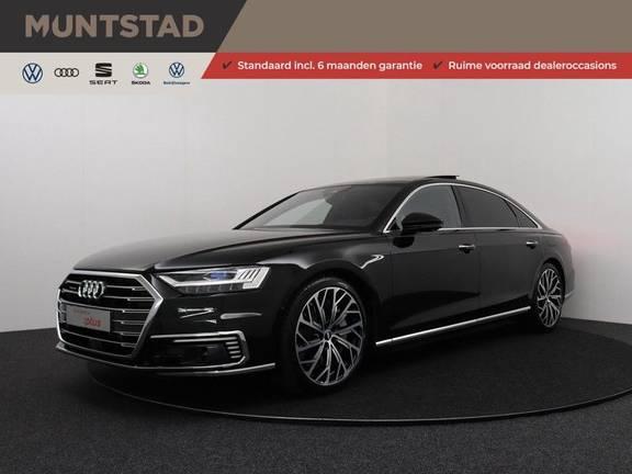 Audi A8 60 TFSI e 449 pk quattro Lang Pro Line   Vierwielbesturing   Pano.Dak   Nachtzicht   Rear seat entertainment   360 Camera   Verlengde fabrieksgarantie   NP € 211.708,00  