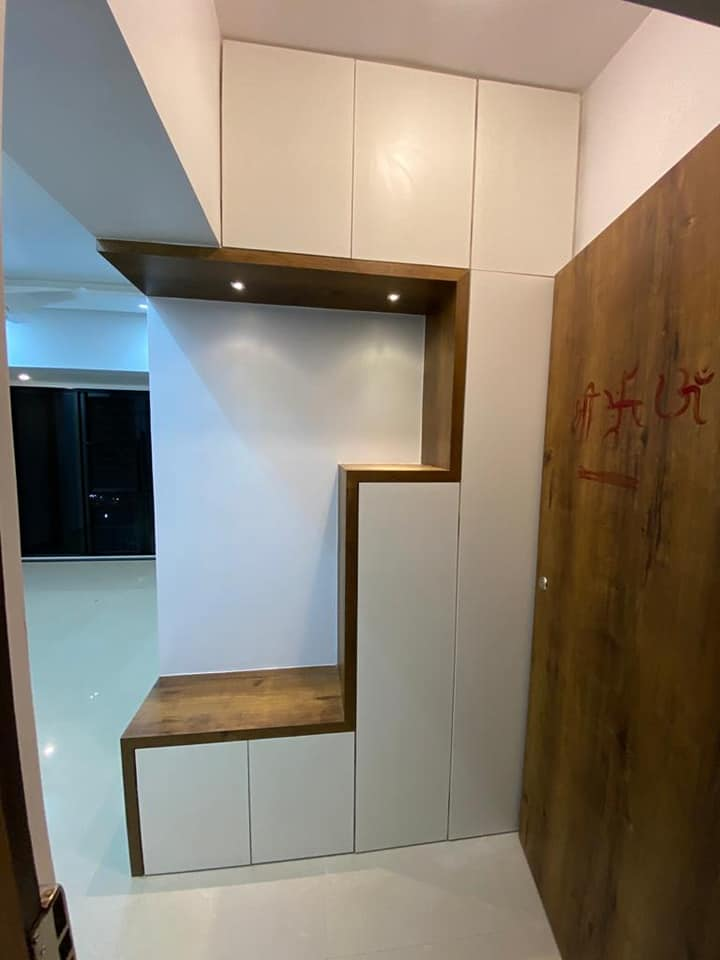 Add paneling for decoration and storage intrior.com