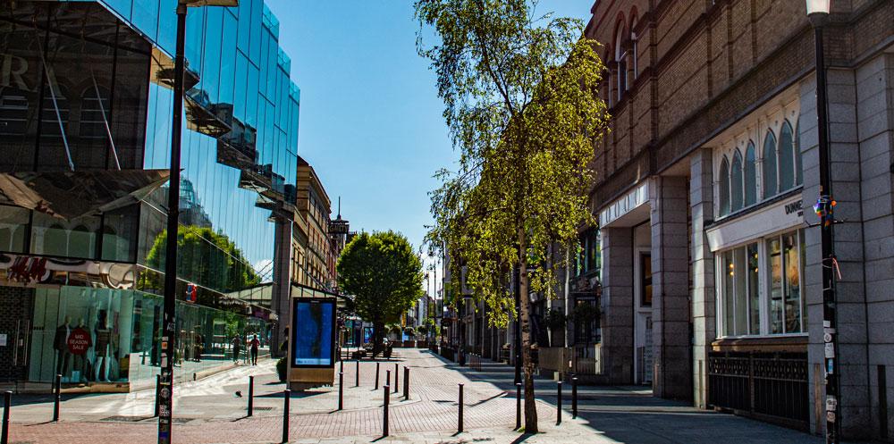 Dublin city stephens green side of grafton street