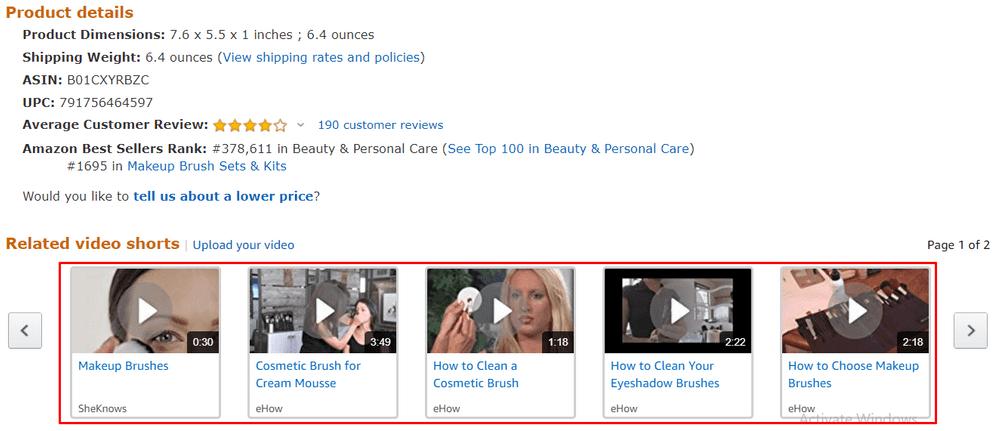 14 amazon video content example