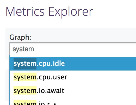 DataDog Metrics Explorer