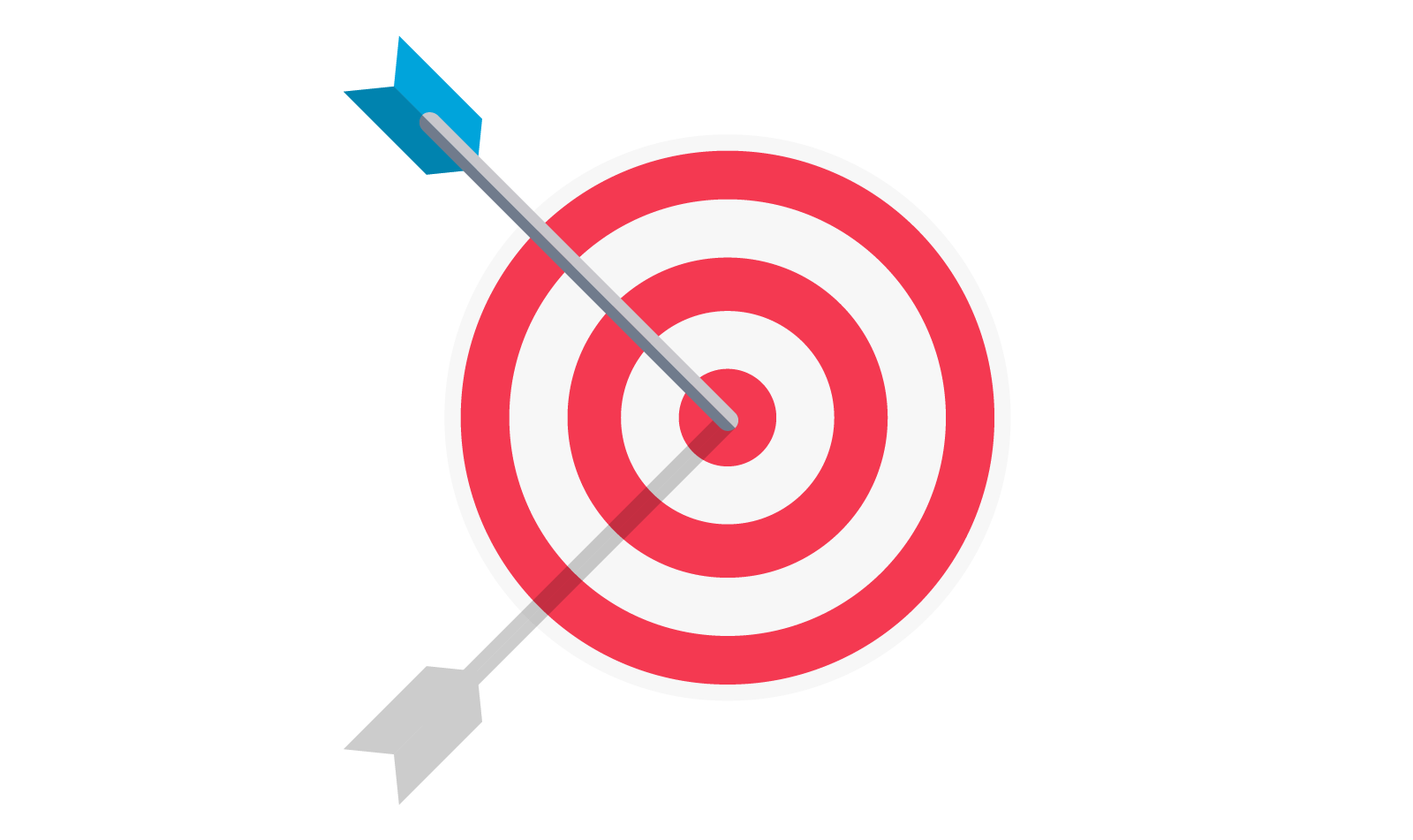 Illustration of arrow on target