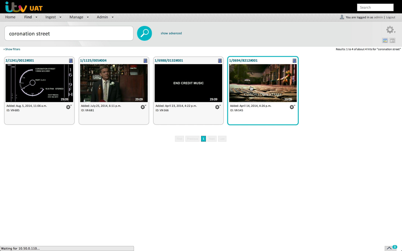 Cantemo Portal Itv Screenshot