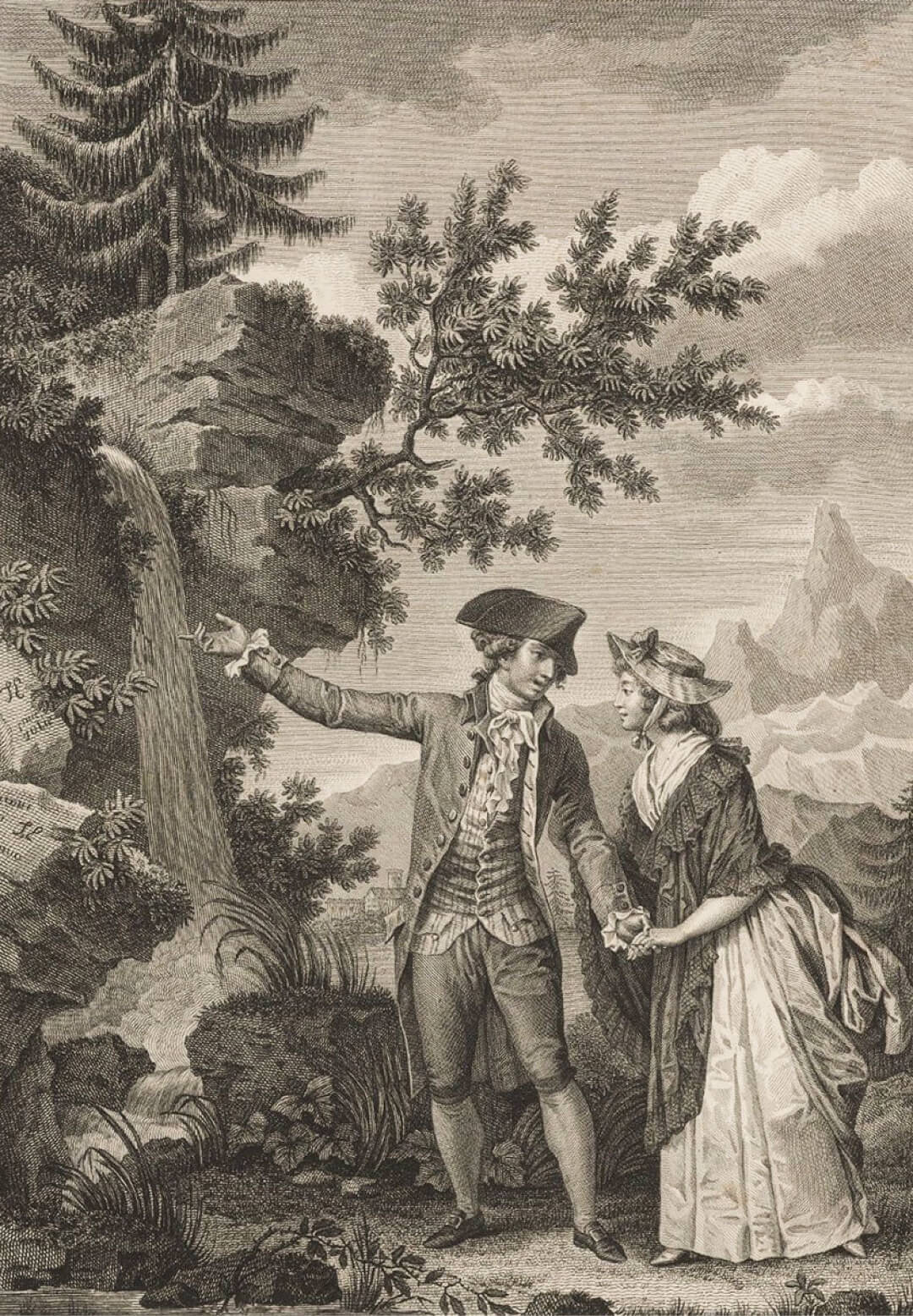 Иллюстрация кроману «Страдания юного Вертера» Иоганна Гете изиздания 1844 года. Художник Офорт Тони Жоанно