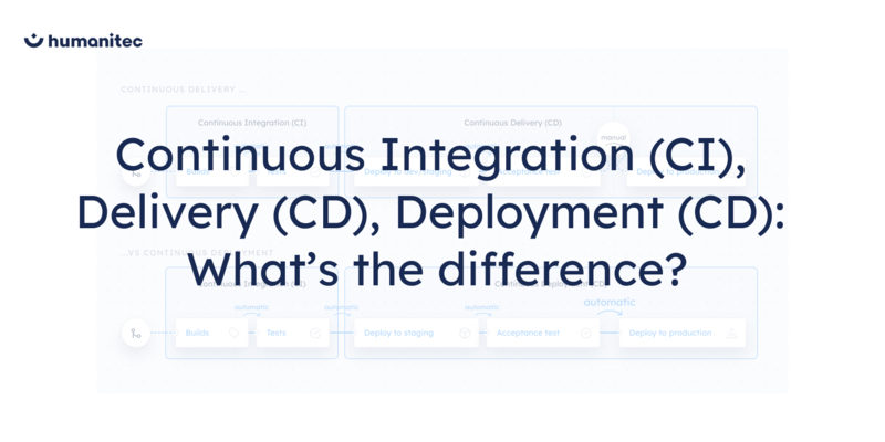 Continuous Integration (CI) vs. Continuous Delivery (CD) vs. Continuous Deployment (CD)