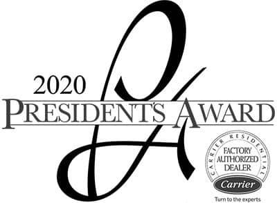 2020 Carrier Presidents Award Winner