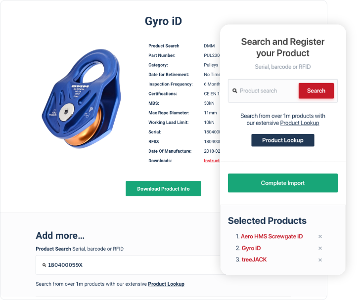 Search and import your product information
